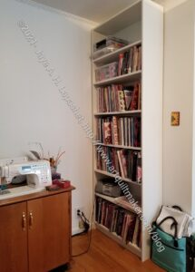 Shelf replacing old desk