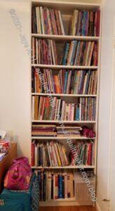 Shelf replacing old brown shelf