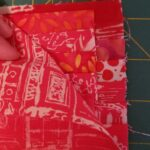 Layer your 'flap ladder' RST with piece D and sew along the short sides
